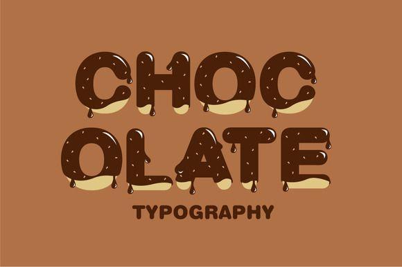 chocolate typography vector by lyeyee on Creative Market