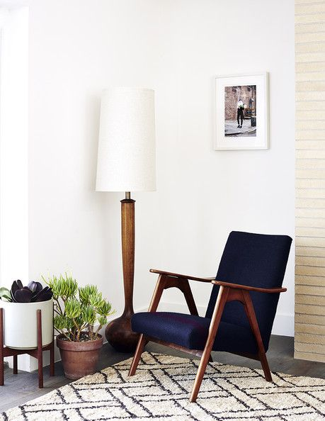 image via lonny | Case Study Ceramic Cylinder with Wood Stand | http://modernica.net/case-study-cylinder-plant-pot-with-standbrsmall.html