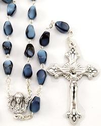 Dark Blue Beads Rosary