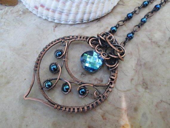 blue crystal necklace with blue glass beads by EdisLittleTreasures, $65.00 #etsy #jewelry