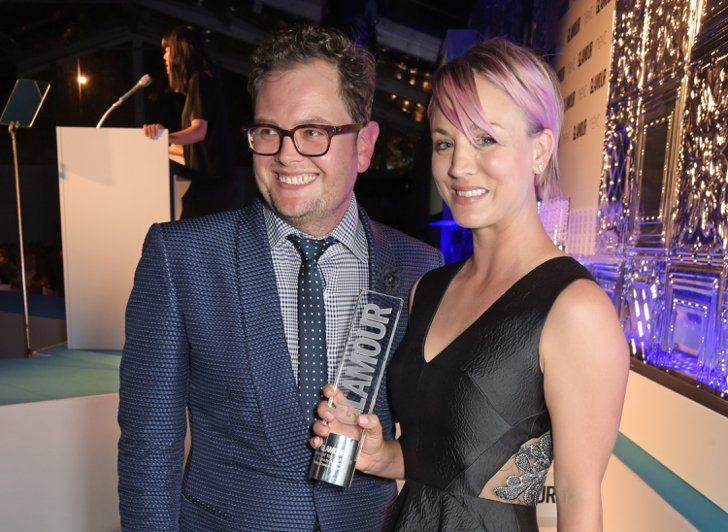 Pin for Later: See All the Stars on the Glamour Women of the Year Red Carpet! Alan Carr and Kaley Cuoco-Sweeting Kaley won the Comedy Actress of the Year award.