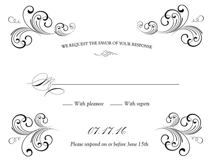 Free Weddings Swirls Clip Art Black Swirl Wedding Response Card