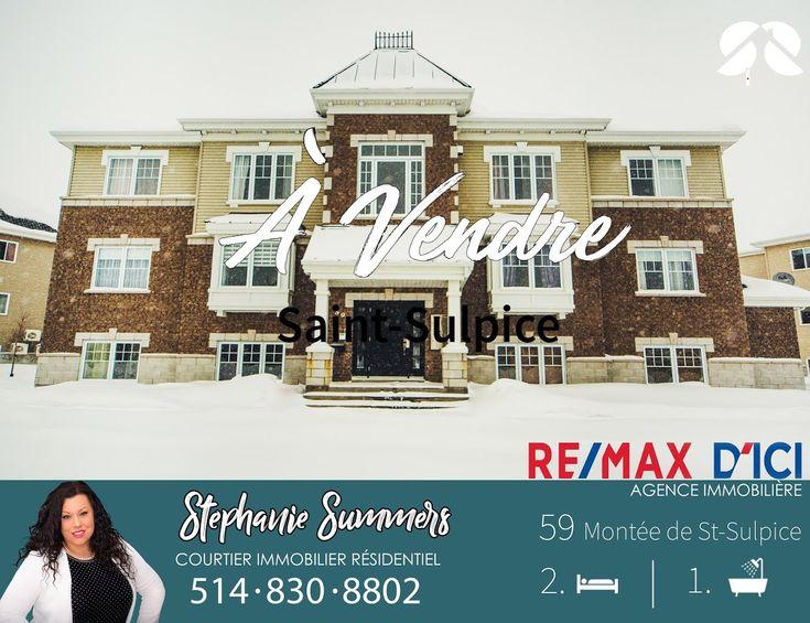 Condo à vendre à Saint-Sulpice Stephanie-Summers.com Courtier immobilier  #montreal #condo #maisonavendre #remax #bellemaison #deco #lanaudiere #snow #pin #follow