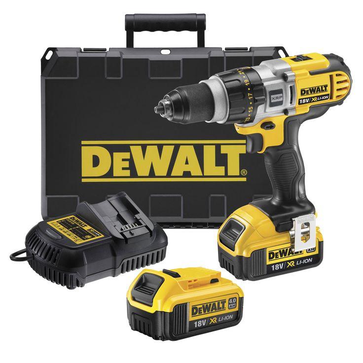 DeWalt Drill Driver Kit DCD980M2 18V featuring XR 4.0Ah Li-Ion battery technology,intelligent trigger...2 x 4Ah batteries...EAN 5035048390702