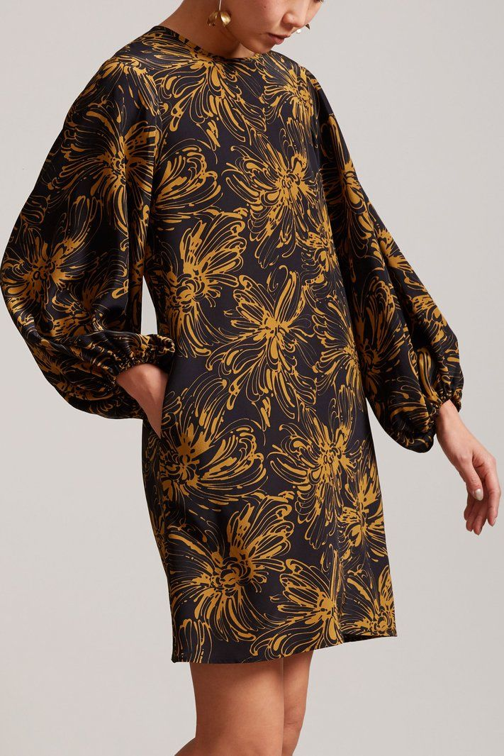 No.6 Balloon Dress in Black Island Floral