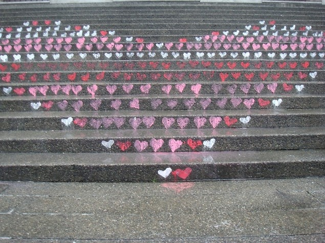 We Love You, Public Space! Intervention of Hearts at the Vancouver Art Gallery by James Chutter