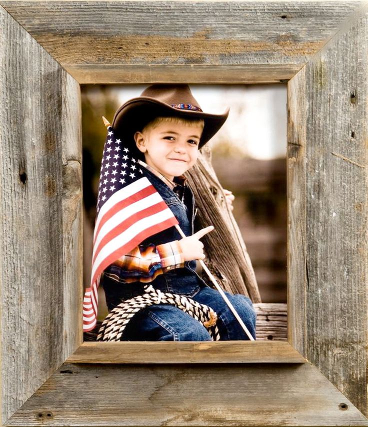 Western Picture Frames | Rustic Wood Distressed Frame 8x10