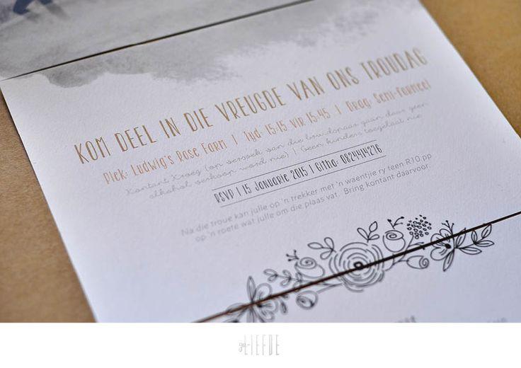 simon + githa || wedding invite || geliefde studio