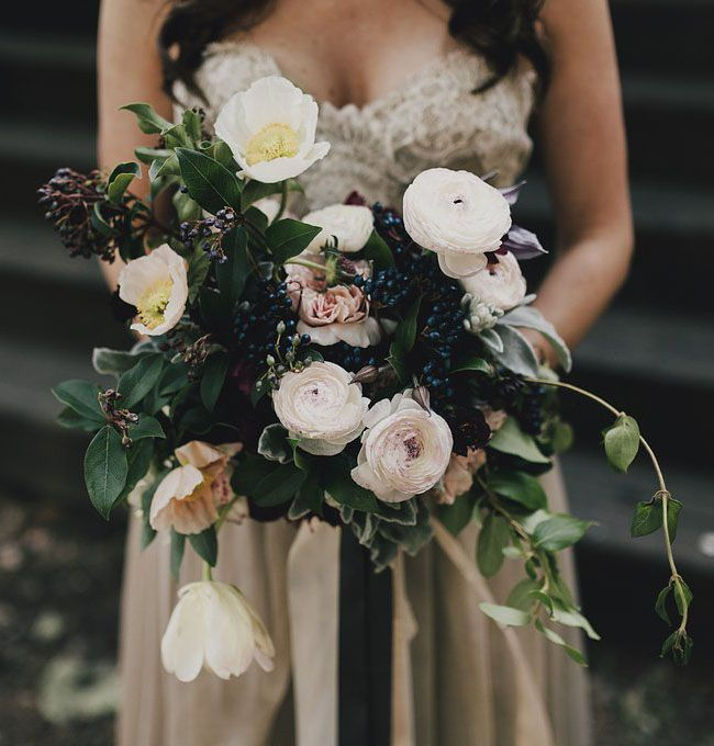 Poppy + ranunculus bouquet