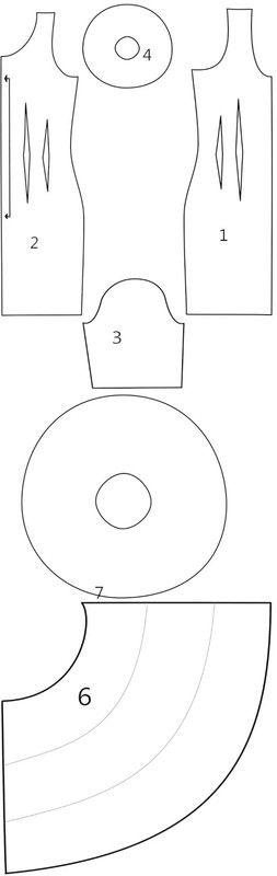 How to make a dress. Flamenco Dress - Step 8