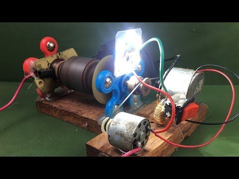 3edca94a31c Electricity Magnetic Free Energy Generator Using DC Motor - Experiment  Science School Project 2018 - YouTube