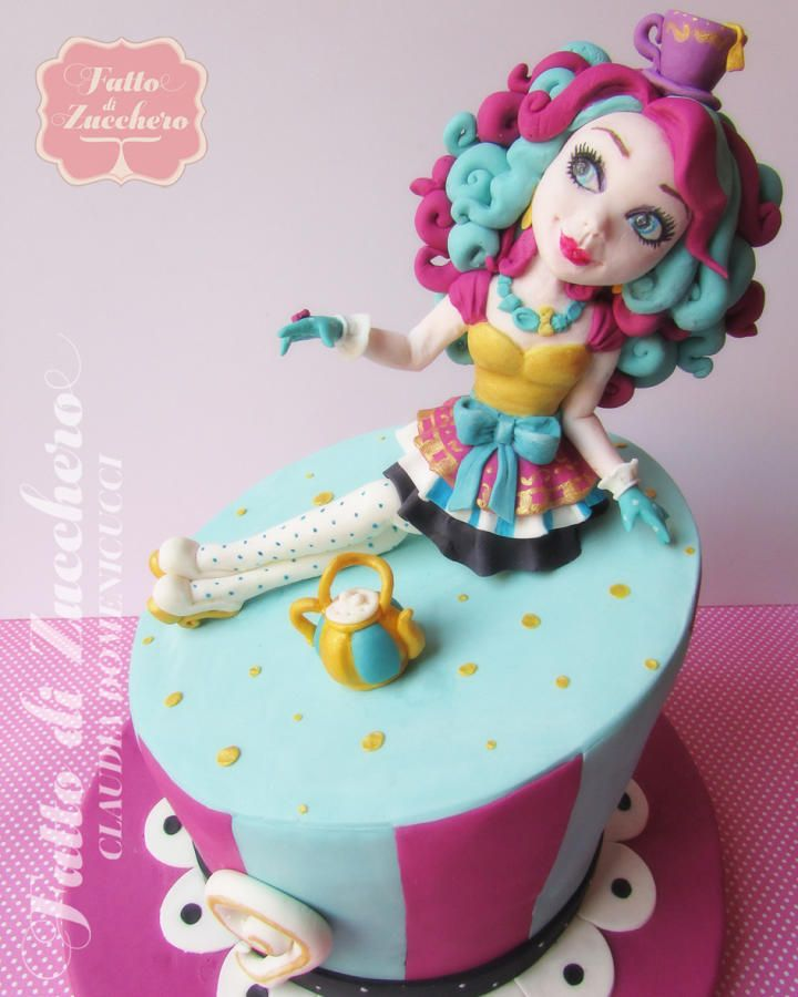 Madeline Hatter (Ever After High) - Cake by FattodiZucchero