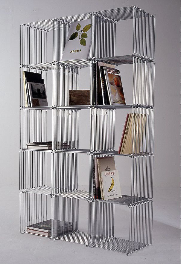 Trådreol | Wire Shelf designed by Verner Panton #Denmark #grid