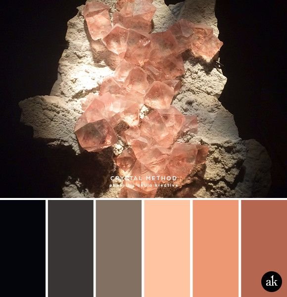 a fluorite-inspired color palette