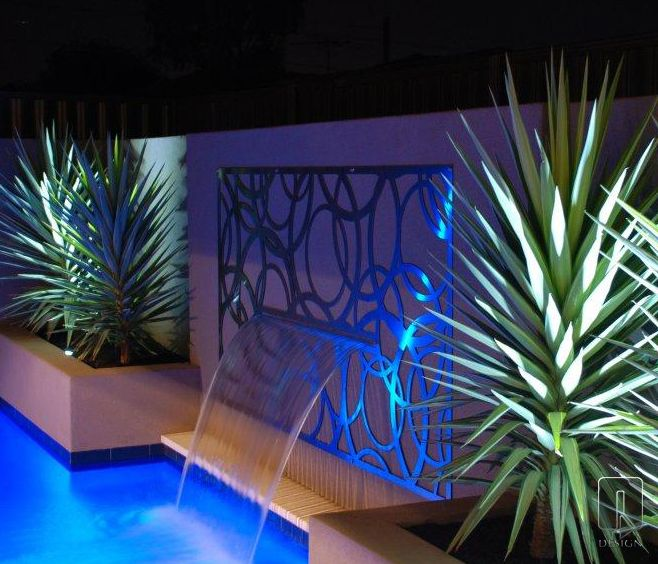 66 best images about outdoor screening ideas on pinterest - Swimming pool water features perth ...