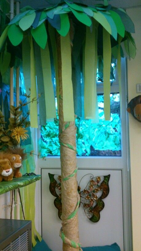 Tree in my jungle reading corner. | Rainforest Theme ...