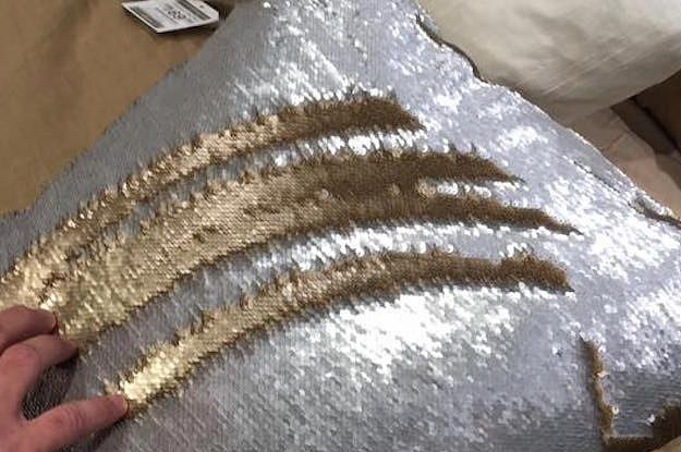 """The pillows, called """"Mermaid Pillows,"""" change colors when you """"draw"""" on them with your hand. Noviello thought they were so weird, he decided to live stream his friend messing around with them on Facebook. 