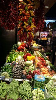 Overwhelming vegetables at Soley's Boqueria stall
