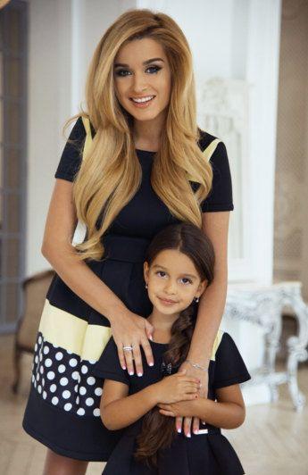 Passende Kleider Familie Outfits Mutter und Tochter von GepurDress