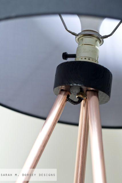 Sarah m dorsey designs knocktoberfest tripod floor for Diy floor lamp ideas