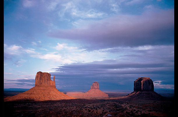 """Monument Valley, Utah, 1950  """"Color, physically or psychologically considered, is extremely complex. While we have good reason to believe all persons with normal vision see colors the same way, the significance of colors may vary with each individual."""""""