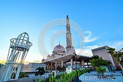 The Putra Mosque is the principal mosque of Putrajaya, Malaysia. Construction of the mosque began in 1997 and was completed two years later.