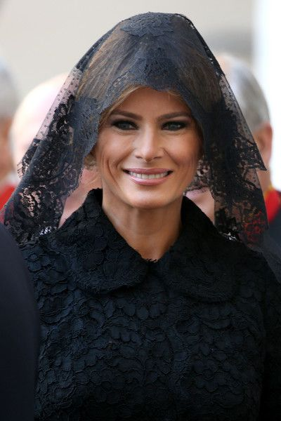 Melania Trump Photos Photos - US First Lady Melania Trump arrives at the Apostolic Palace for an audience with Pope Francis on May 24, 2017 in Vatican City, Vatican. The president will return to Italy on Friday, attending the Group of 7 summit in Sicily. Trump will also visit American troops stationed in at a US air base in Sicily. - Pope Francis Meets USA President Donald Trump