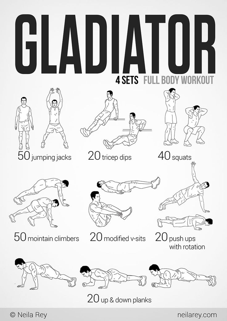 Gladiator Workout - this looks like a good one