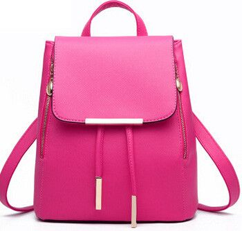 Vogue Star 2016 New Design Pu Women Leather Backpacks School Bags Students Backpacks Women Travel Bag Leather Package YB40-331