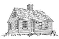 Three-Quarter Cape Although seldom copied in the Cape Cod revivals that would come many decades later, the three-quarter Cape was a mainstay of 18th- and early-19th-century New England. On the three-quarter Cape as well as the half Cape, the entry was offset slightly from the chimney.