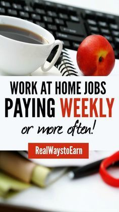 Do you need to find a work at home job that pays you weekly instead of once a month or twice a month? This huge list has lots of different options.