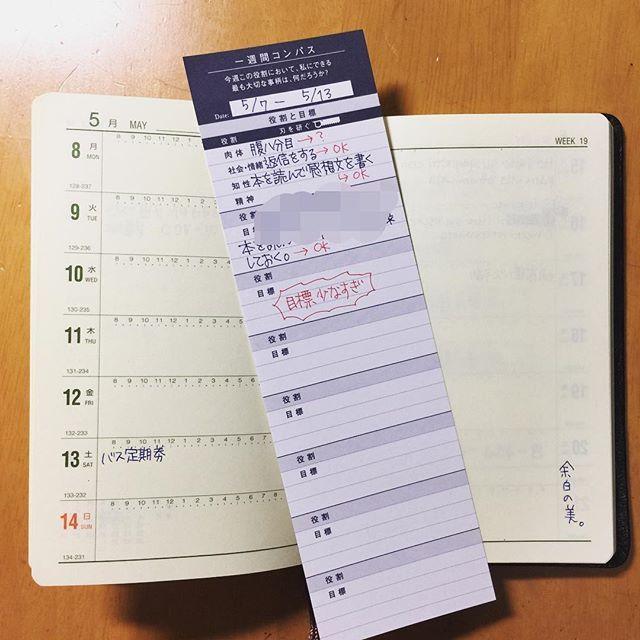 先週の能率手帳と一週間コンパス。典型的なダメ週。生きていた痕跡が薄い。余白の美とか書いてる場合なのか。 フランクリンプランナーの方には少し記述があるが、鼻炎の薬で眠いとかそんなことばっかり書いてある。 この週本当に生きていたのか、記憶も薄い。 #能率手帳 #フランクリンプランナー