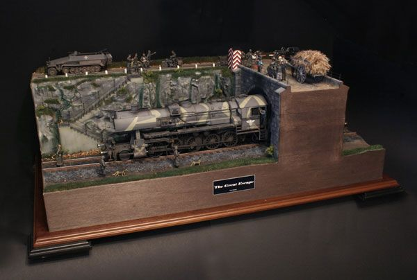 """""""The Great Escape"""" 1/35 scale. German BR52 Locomotive. #diorama #scale_model #Steamengine http://www.greatnorthroads.co.uk/gallery/index.php"""