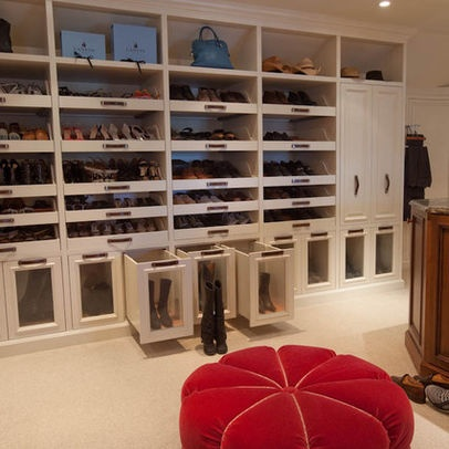 47 best images about bedroom decorating ideas on pinterest for Walk in shoe closet