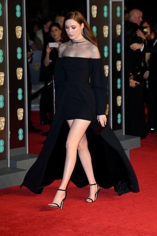 (Doug Peters/EMPICS Entertainment) Photos From The Baftas Red Carpet: Karen Gillan attending the EE British Academy of Film awards (BAFTA) at the Royal Albert Hall, London 20180218