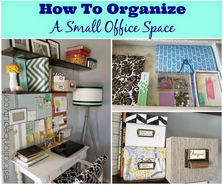 Restoration Beauty: How To Organize A Small Office/Work Space {Tips & Tricks}