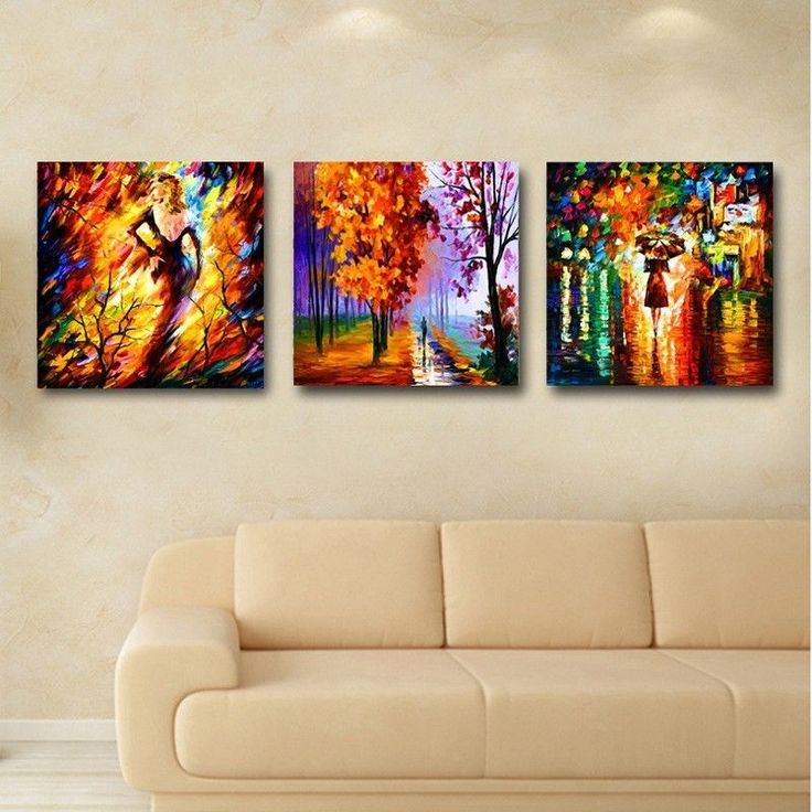 Modern Abstract Wall Decorate Canvas OIL Paintinglandscape Figure With Framed | eBay