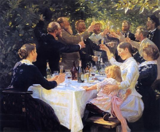 Hip, Hip, Hurrah! - Peder Severin Kroyer (1888) - I have this one at home, an everlasting toast to good moments in life. (Introduced by my friend Ana Lucia Salazar such a long time ago, and I still always find myself wanting to get into it for a taste of this bright cheerfulness...)