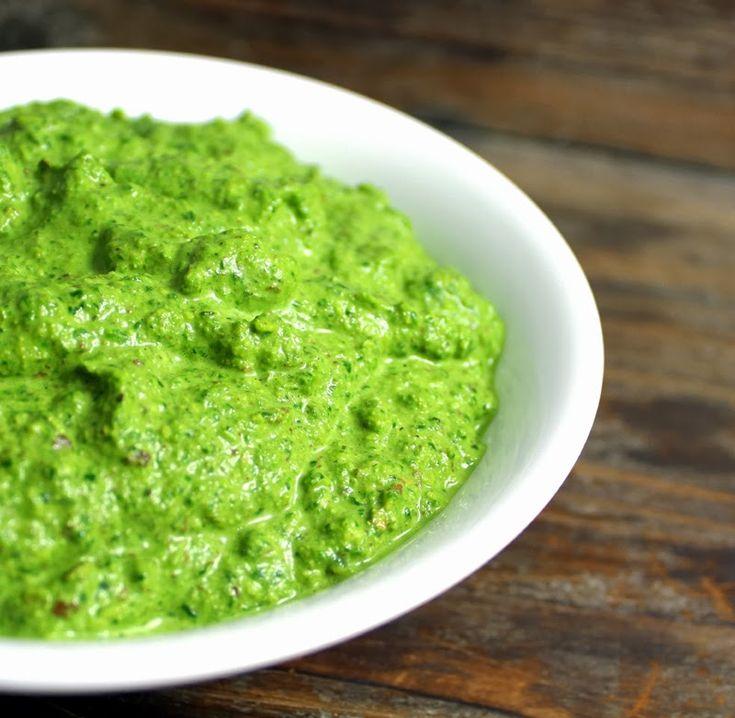 Oppskrift Spinatpesto Grønn Hjemmelaget Pesto Spinat Sunn Mandler Gresskarfrø