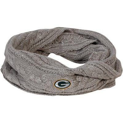 '47 Brand Green Bay Packers Ladies Kiowa Knit Infinity Scarf - Gray