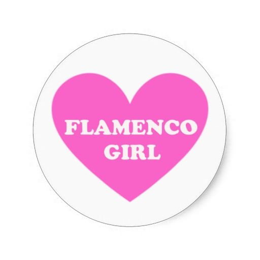 Flamenco Girl Round Stickers
