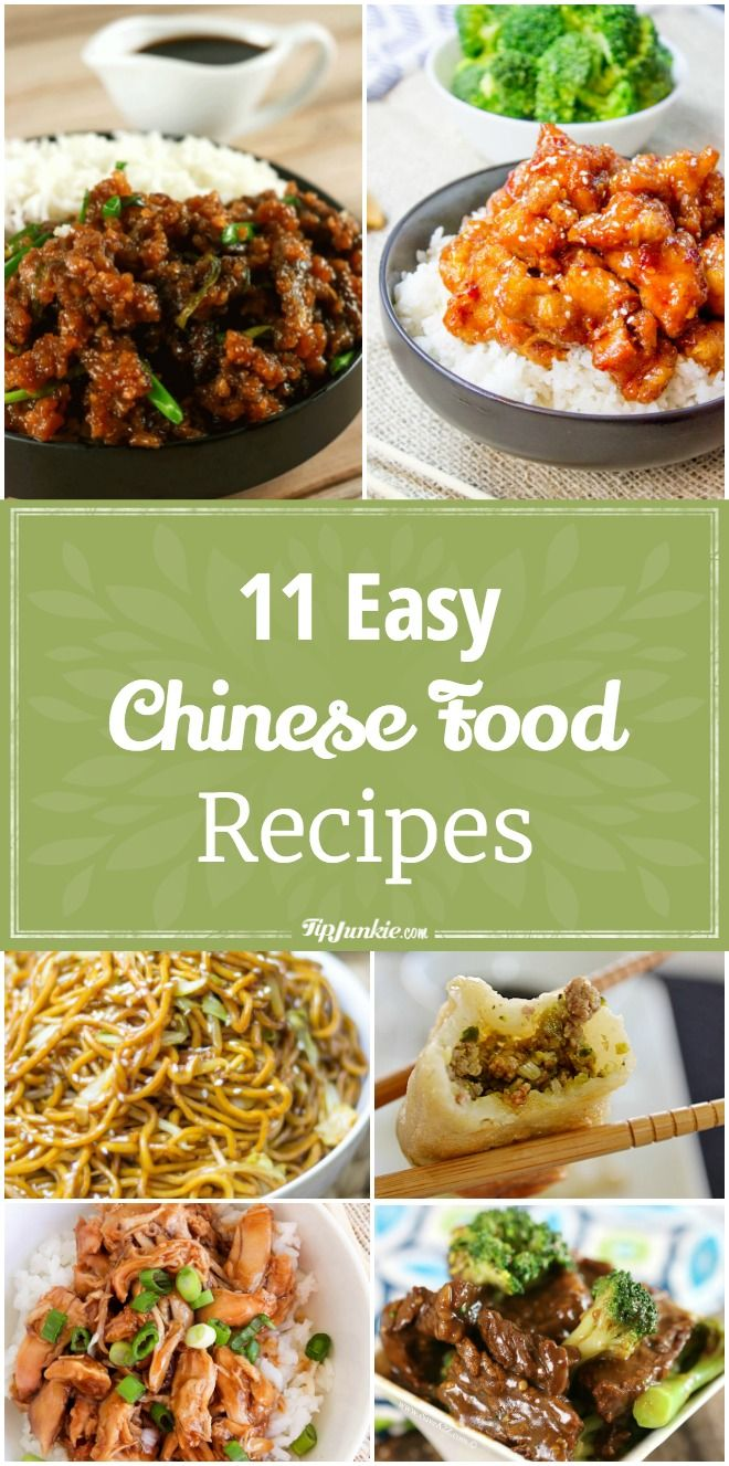 11 Easy Chinese Food Recipes Easy Chinese Recipes Healthy Chinese Recipes Pork Recipes Easy