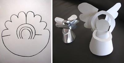 ángel de papel