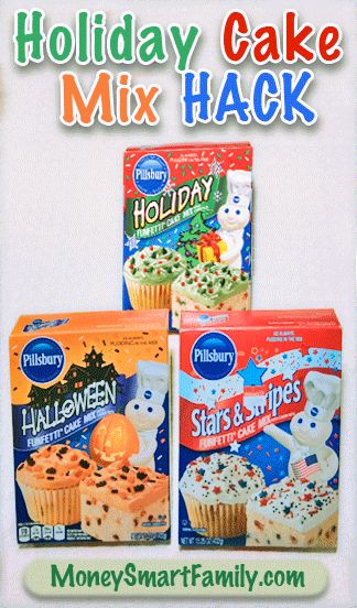 Pillsbury Holiday Cake Mix Hack - Save money after the holidays and celebrate all year long