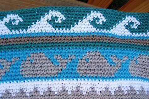 Muster 4 Wellen für cal Tasche 1 von schoenstricken.de