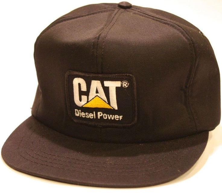 nos cat usa vtg diesel power snapback foam trucker hat new