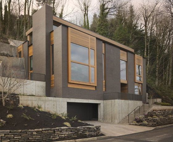 Modern mountainside house in portland oregon Modern house portland