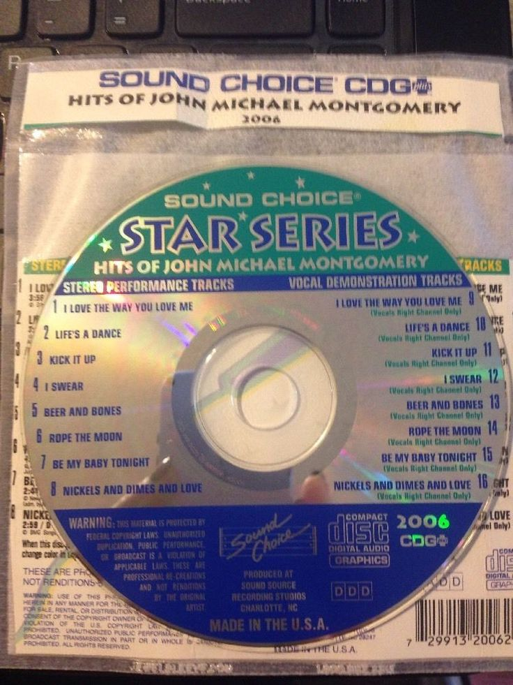 Sound Choice CDG Laser Karaoke #2006 Star Series Hits Of John Michael Montgomery #SoundChoice