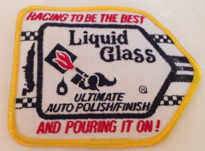 Liquid Glass Auto Polish Finish Racing Patch Embroidered Iron On Car