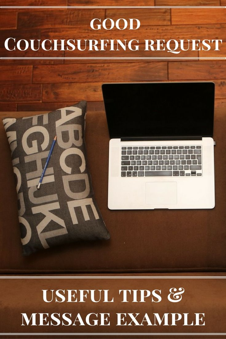How to write a good couchsurfing request? Useful tips and message example!